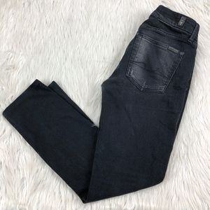 7 For All Mankind Black Kimmie Straight Leg Jeans